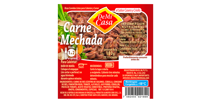 Carne Mechada 180gr